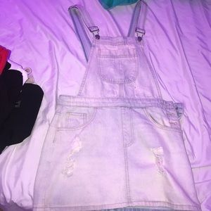 cute ripped forever 21 overalls